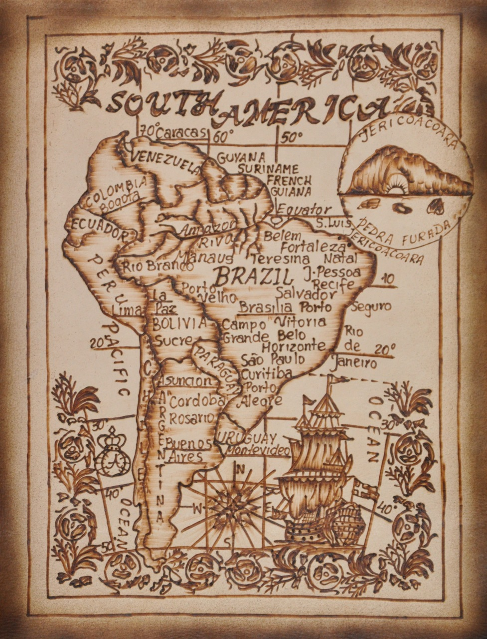 old map of jericoacoara